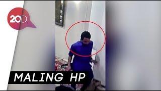 Terekam CCTV, Maling Curi HP di Rumah Dinas Sandiaga Uno