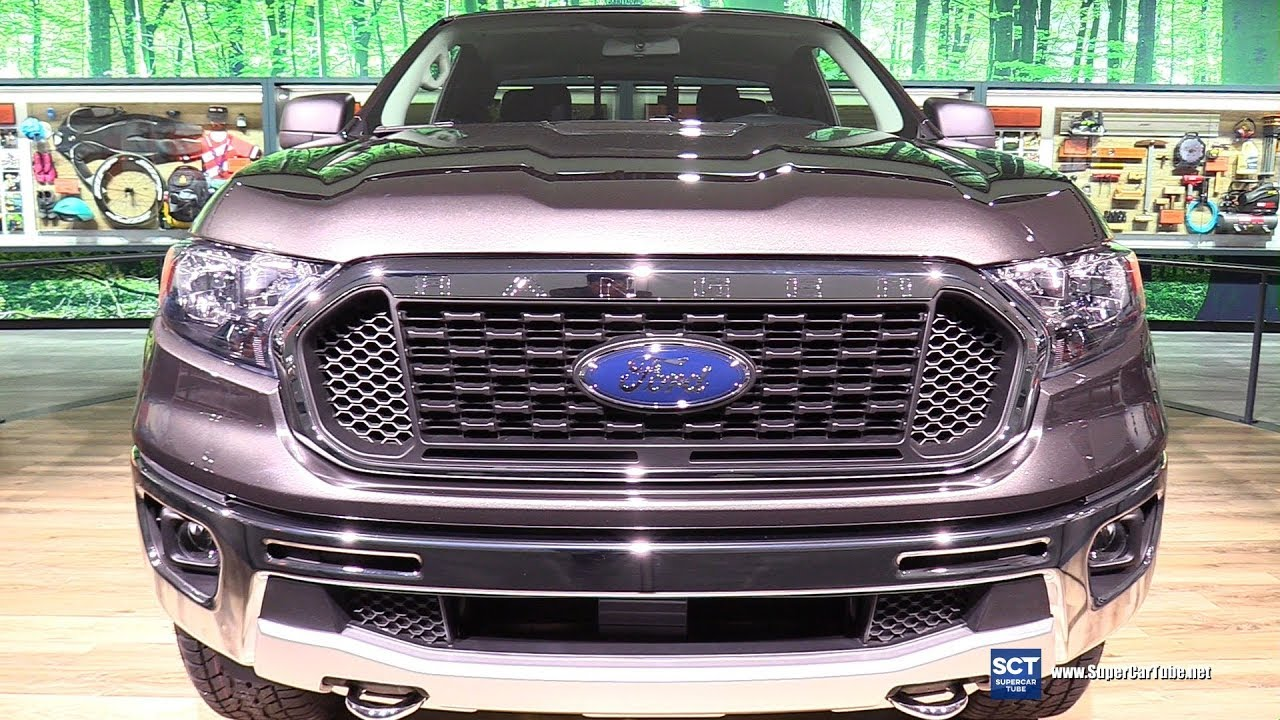 2019 Ford Ranger XLT - Exterior and Interior Walkaround - Debut at 2018 Detroit Auto Show - YouTube