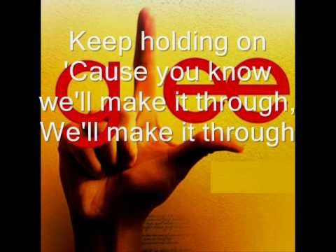 Keep Holding On-Glee with Lyrics/karaoke