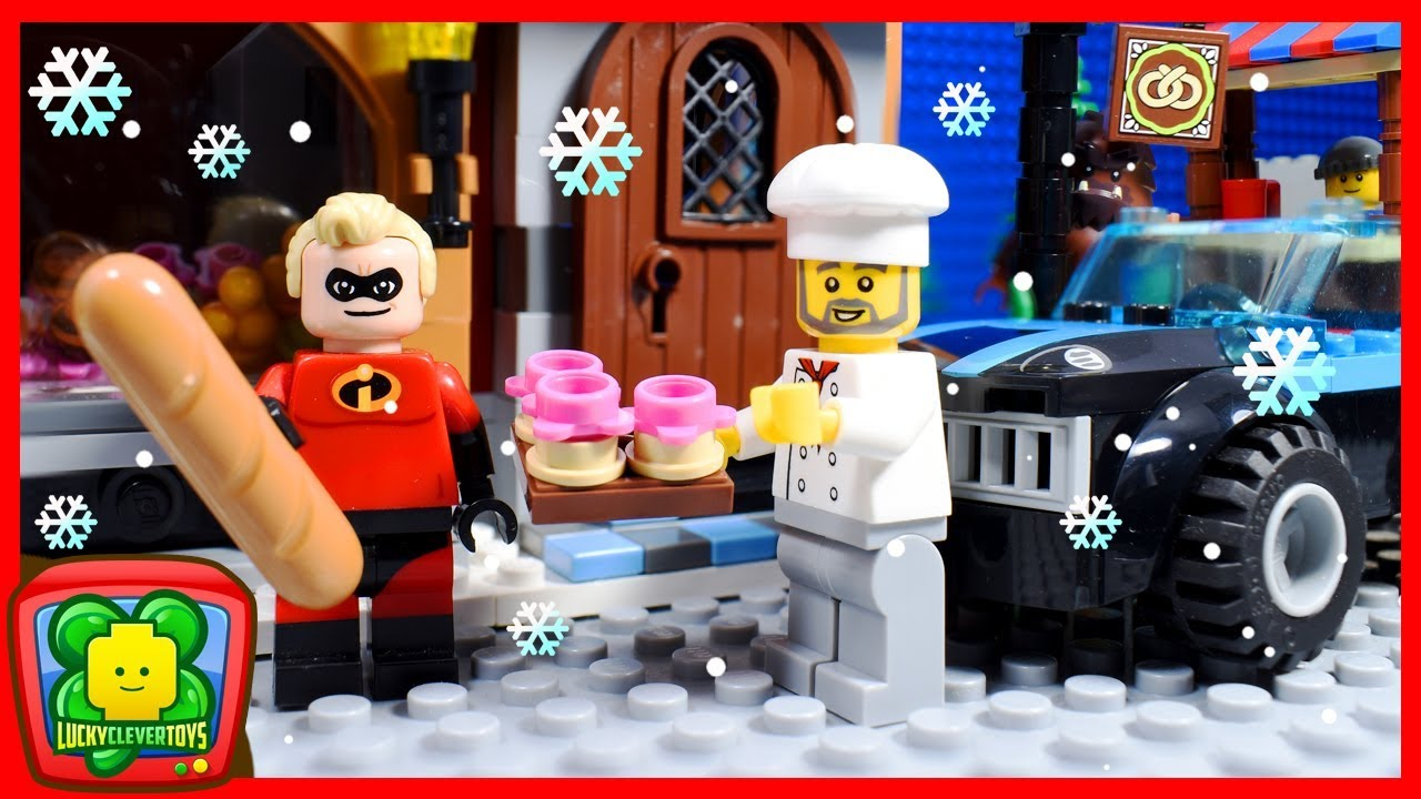 Funny Incredibles 2 Christmas Bakery Lego Stop Motion