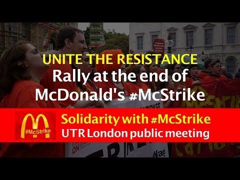 UNITE THE RESISTANCE McDonald's Strike solidarity meeting