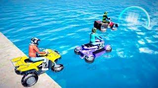 Bike Games - ATV Gibbs Quad-ski Racing - Gameplay Android free games