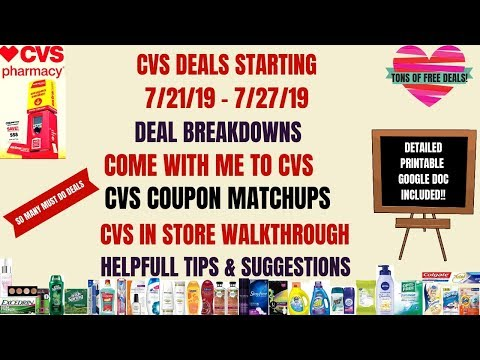 SO MUCH FREE & CHEAP😍CVS COUPON MATCHUPS DEALS STARTING 7/21/19~DEAL BREAKDOWNS~COME WITH ME TO CVS