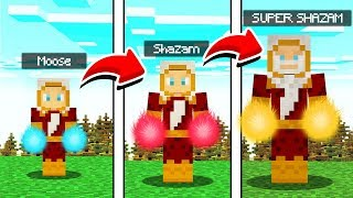 LIFE OF SHAZAM IN MINECRAFT! (SUPER SHAZAM MOD)