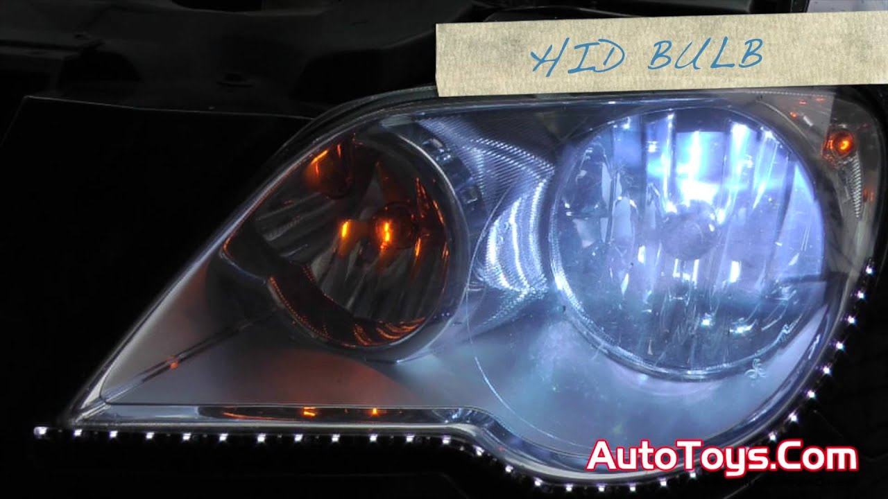 small resolution of 10 minute hid light bulb install how to chrysler pacifica light comparison vs stock bulb