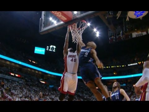 Gerald Henderson Meets Udonis Haslem at the Rim for the SICK Block