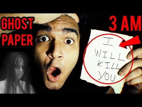 Ghost Paper At 3 AM Challenge  | Ankur Kashyap Vlogs