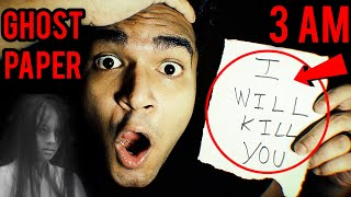 Ghost Paper At 3 AM Challenge    Ankur Kashyap Vlogs
