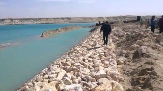 First saw the new Suez Canal Bridge after Tdbish kilometer area 76