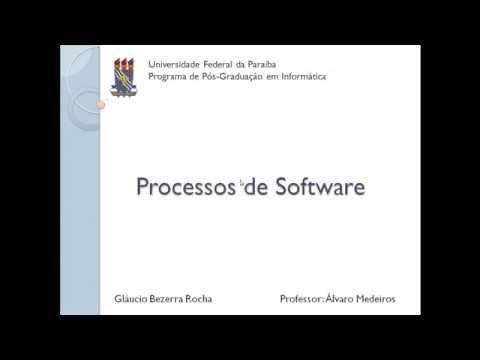 Engenharia de Software - Processos de Software