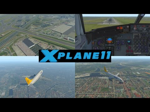 X-Plane 11 B8, Ixeg Boeing 737-300, Autoland Schiphol (Eham