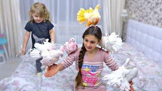 У нас дома РОЗОВЫЕ ГОЛУБИ!! Для детей KIDS CHILDREN Игры с детьми Развлечения