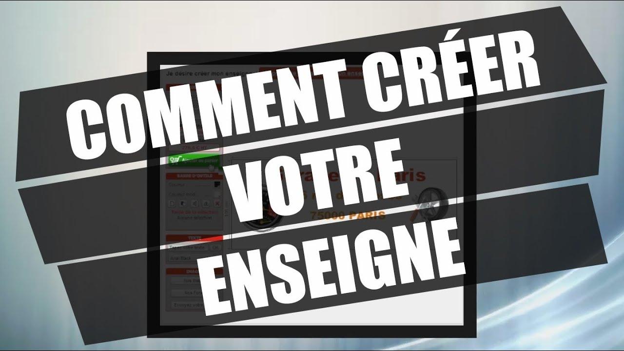 Bien connu Comment créer votre enseigne - mpa-pro.fr - YouTube MP15