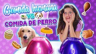 COMIDA DE PERRO vs HUMANA! Reto Extremo! | Leyla Star 💫