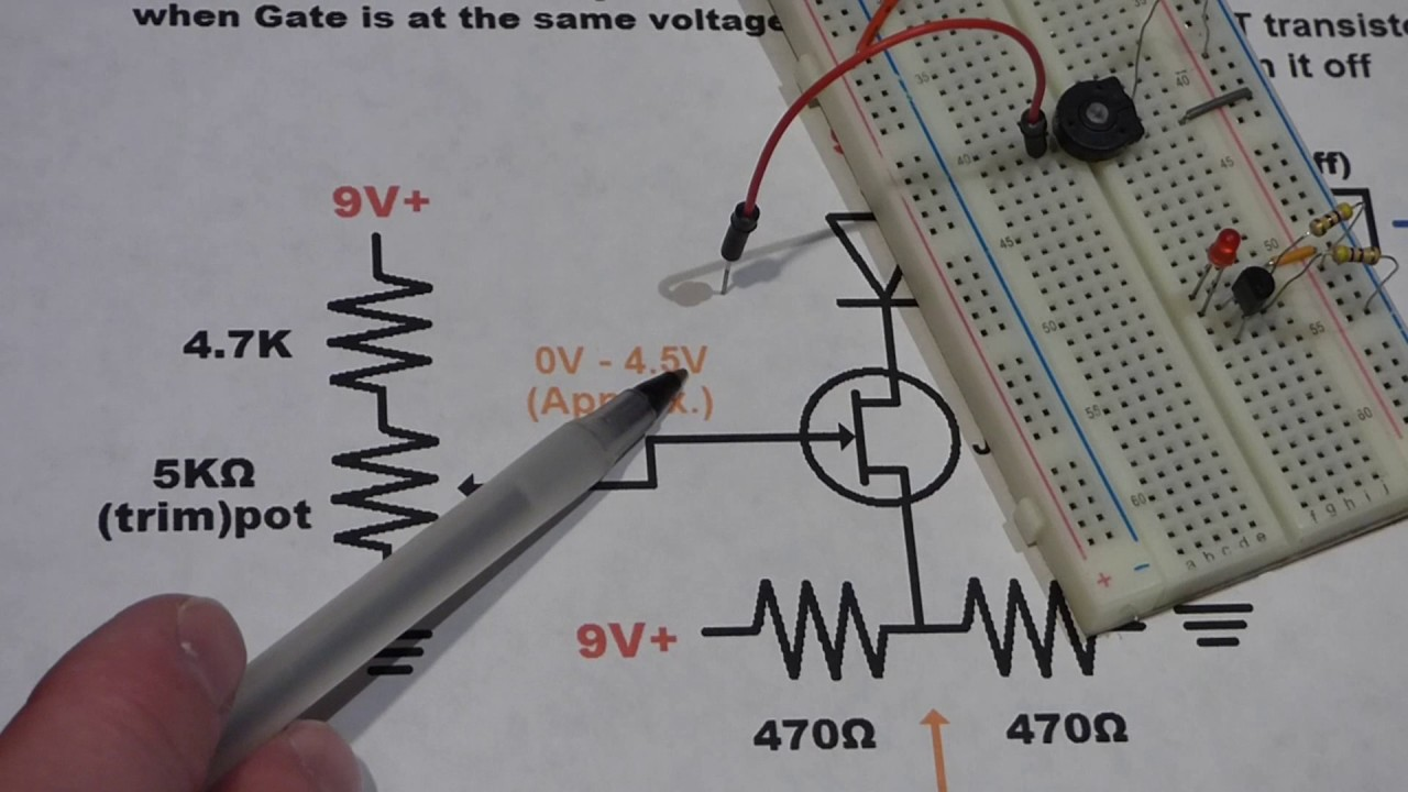 N Channel Jfet Transistor Demonstration Circuit And Diagram Explanation