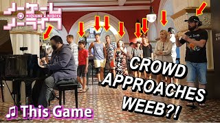 Download lagu I played NO GAME NO LIFE OP (This Game) on piano in public but...