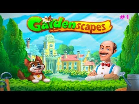 Садовник ОСТИН Gardenscapes #1 (уровни 1-10) НОВОЕ начало! Игровое видео Let's Play
