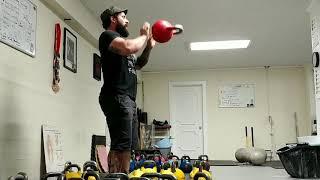 Kettlebell Flip Swing Demo  in Slow Motion