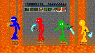 Monster School: Stickman Survives in Minecraft