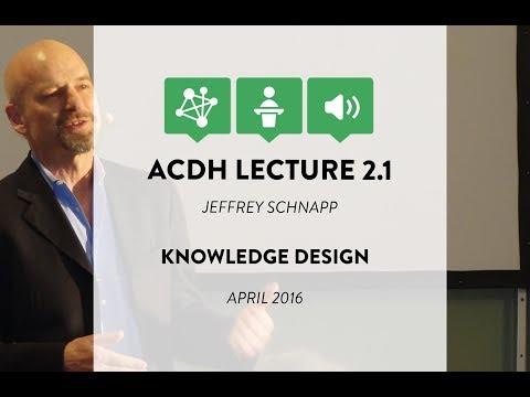 ACDH Lecture 2.1 – Jeffrey Schnapp – Knowledge Design