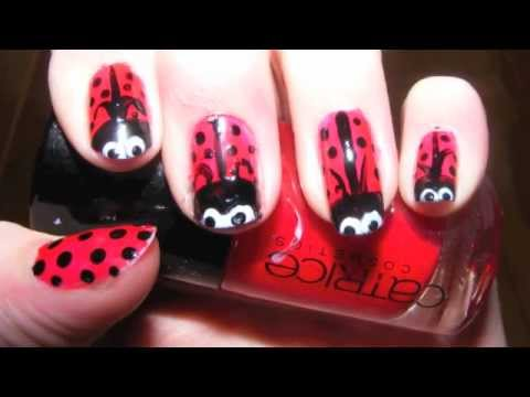 easy ladybug nail art tutorial  youtube