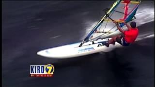Seattle TV news Windsurfing video Sep 27, 2013