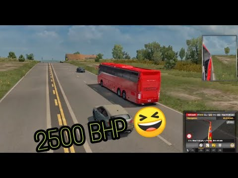 2500 bhp Ultra-fast Ultra-deluxe Volvo bus || 180 kmph || ETS2 || Map Mod