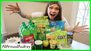 24 Hours Eating Only Green Foods / AllAroundAudrey