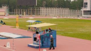 Final race in the 100 meter hurdles, the 100 and 200 meters among men and women