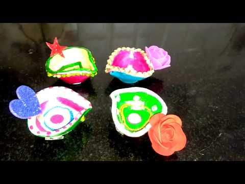 Diya decoration ideas diwali decor diy series 2017 4 for Diya decoration youtube
