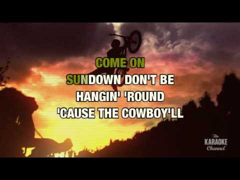 Modern Day Cowboy in the style of Tesla | Karaoke with Lyrics