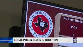 Legal poker clubs in Houston