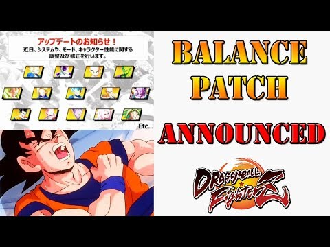 Dragon Ball FighterZ - Balance patch has been announced!