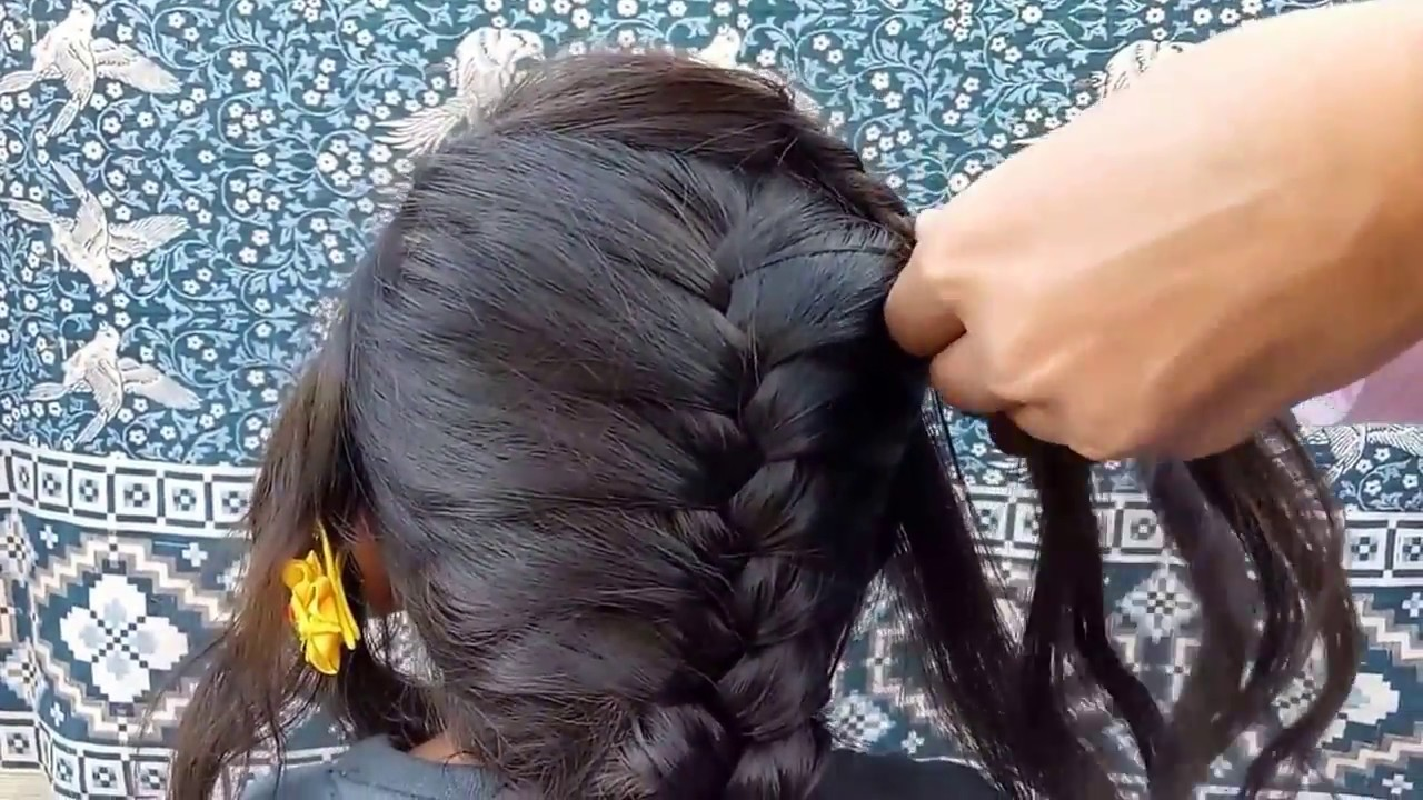 Side French Braid Hairstyle Long Hair Hairstyle Youtube
