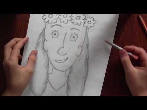 Відео-щоденник Дениса Кузнецова. Випуск № 25. Як намалювати портрет сестри.