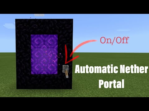 Minecraft Bedrock Edition Automatic On And Off Nether Portal [ Easy Tutorial ]