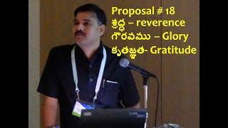Proposal 18 Reverence Glory Gratitude
