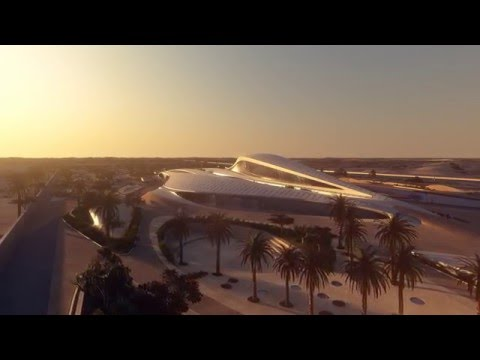 Fly-through animation of the Bee'ah Headquarters by Zaha Had