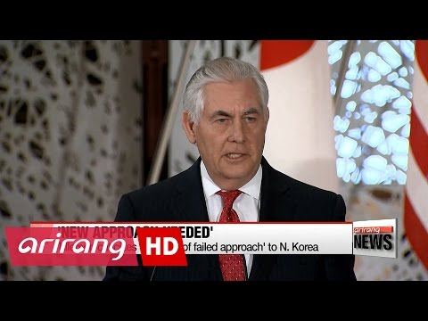 Tillerson criticizes '20 years of failed approach' to N. Korea