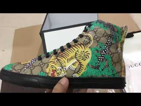 a9ac5c3012738 Gucci Bengal Major Tiger Men s GG Shoes High Top Sneaker from China ...