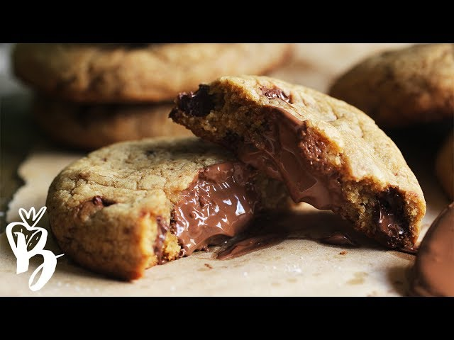 كوكيز نوتيلا هش ولذيذ Nutella Stuffed Cookies Youtube