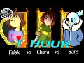 Undertale - Stronger Than You Trio: Sans vs Chara vs Frisk 1 hour | One Hour of...