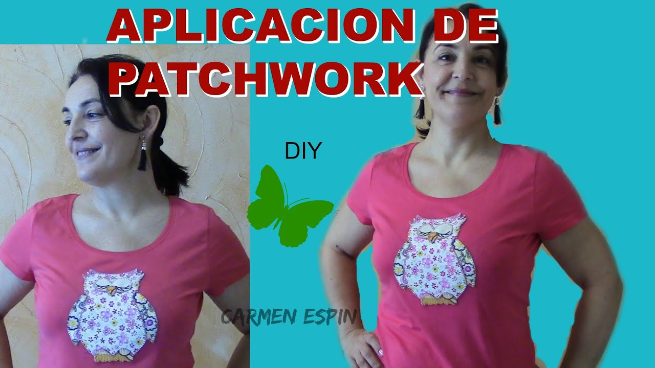 1eeb1eb18768d APLICACIÓN DE PATCHWORK PARA CAMISETA DIY - YouTube