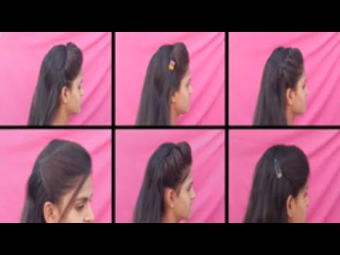 """6 Easy Different """"Side Puff"""" Hairstyles // Everyday Easy Side Puff Hairstyles // Hairstyle for girls thumbnail"""