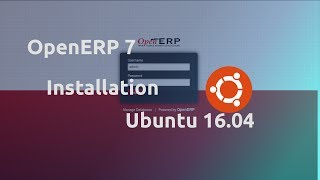 OpenERP 7 Installation on Ubuntu 16.04