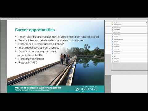 WEBINAR Master of Integrated Water Management Program and Scholarships