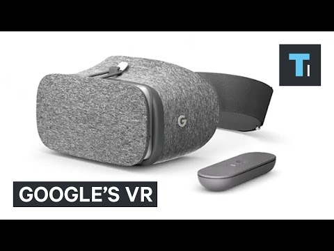 """Google debuted its virtual reality headset """"Daydream View"""""""