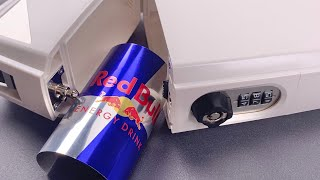 "[1160] ""The Ultimate Portable Safe"" Opened With Red Bull Can (SafeGo)"
