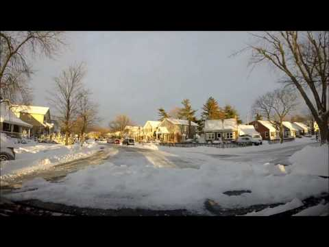 Blizzard of 2017: A Drive through The Village of New Hyde Park