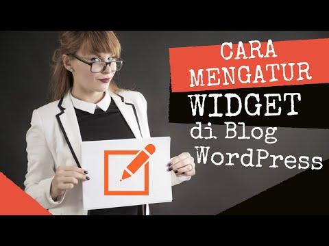 Cara Mengatur Widget Blog WordPress